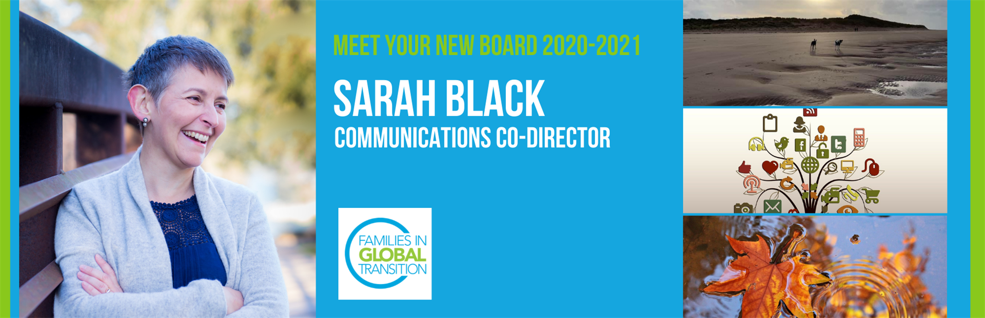 Blog title: Sarah Black is FIGT's new Communications Co-Director