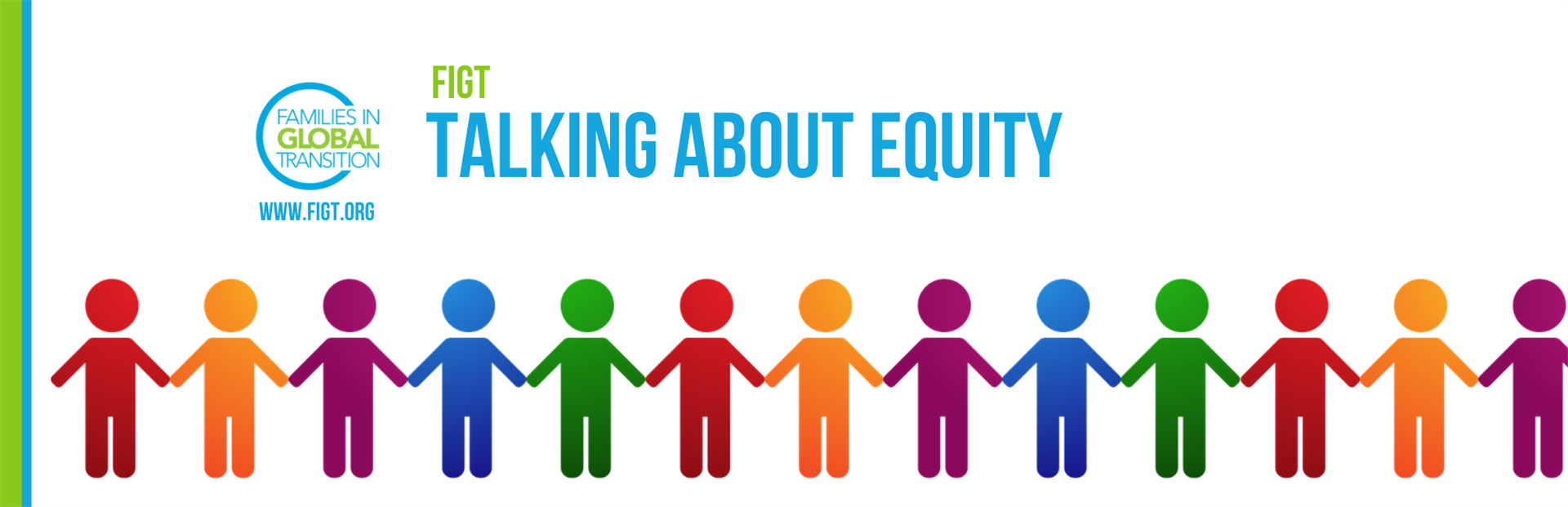 FIGT: Talking about equity, image of many colorful people figures holding hands