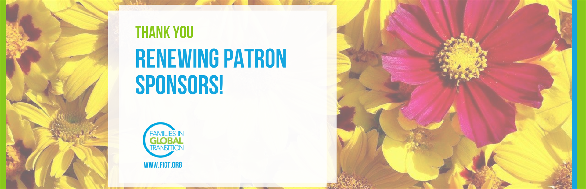Blog title: Thank you, renewing Patron Sponsors!