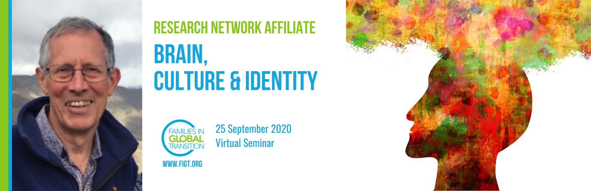 Blog title banner: Brain, culture & identity. 25 Sep 2020 virtual seminar.