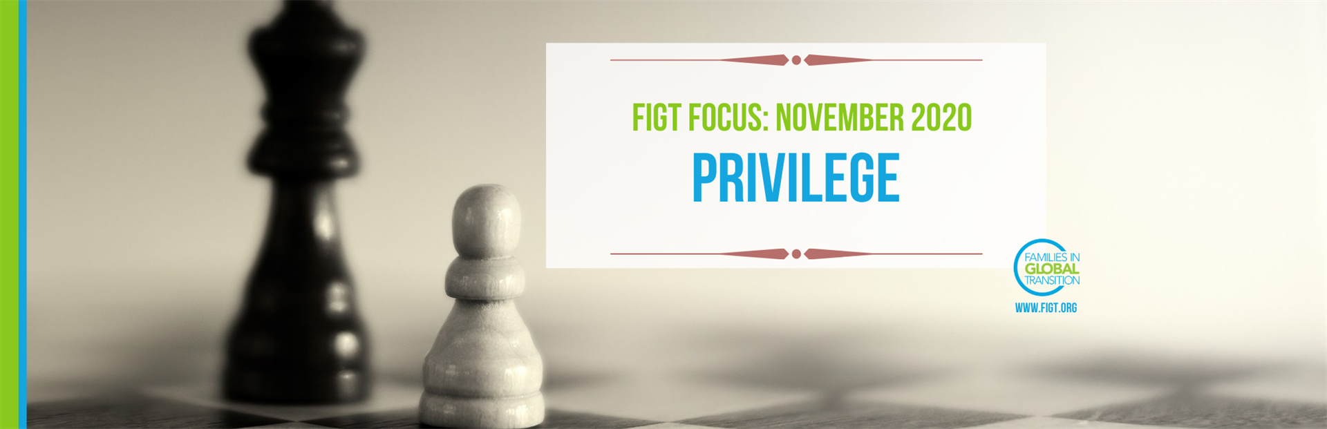 Blog title: FIGT Focus for Nov 2020 is Privilege